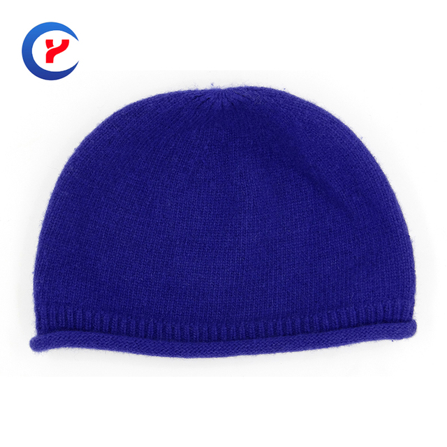2017 New arrival Hot Fashion women wool Cake volume cap High quality hemming Casual Warm blue Winter Knitting cap  #x29
