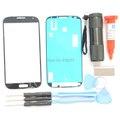 Темно-Синий Для Samsung Galaxy S4 i9500 i9505 i337 Замена Переднее Стекло Экрана УФ Клея и свет комплект