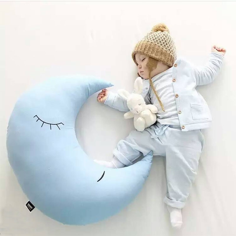 Moon Plush Toy Stuffed Moon Shape Cushion&Pillow Cute Baby Appease Doll Kids Sleeping Pillow Birthday Gift For Children 1pc 65cm cartion cute u shape pillow kawaii cat panda soft cushion home decoration kids birthday christmas gift