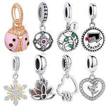 Bracelet Beads Ladybird Rose-Gold Jewelry-Making Pink 100%925-Sterling-Silver Original