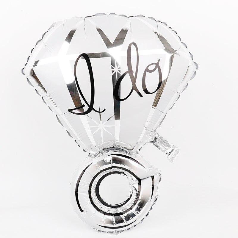 1 шт. Свадебные украшения для свадеб кольцо с бриллиантом Фольга шары девичник Обручение вечерние поставки Свадебные сувениры и подарки
