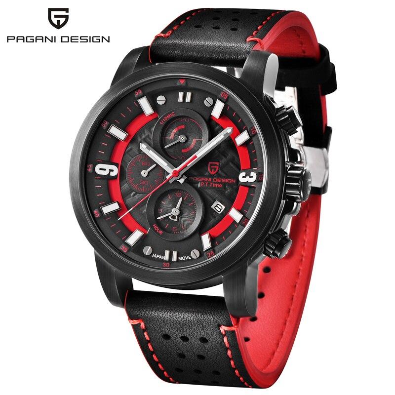 Relogio Masculino PAGANI DESIGN hommes montres haut de gamme de luxe étanche militaire chronographe Quartz montre-bracelet horloge noir homme