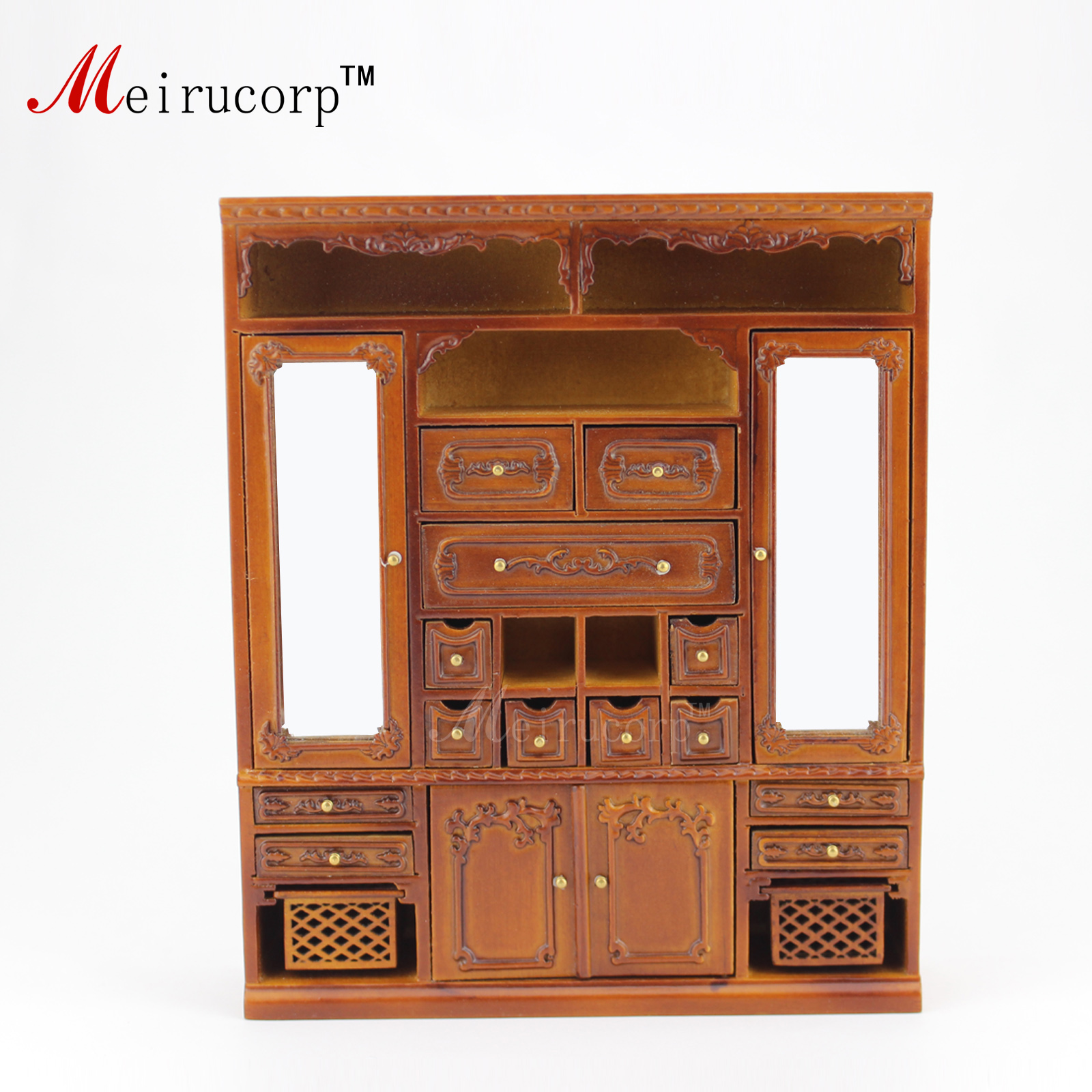 ФОТО 1:12 scale miniature High quality Hand Carved Main cabinet for dollhouse 10292