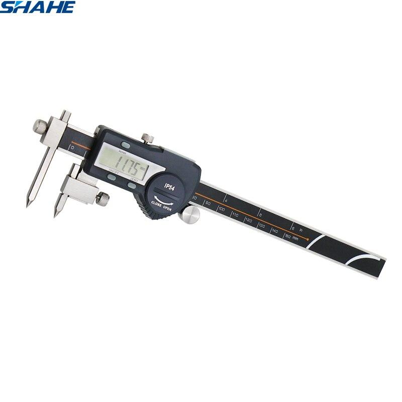 Micrômetro digital eletrônico de aço inoxidável do paquimetro da distância do centro de digitas de 5-150mm