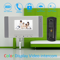 4'' Color LCD Screen Video Door Phone Door Bell Home Garden Door Intercom System IR Night Vision 1 to 1 House talkback