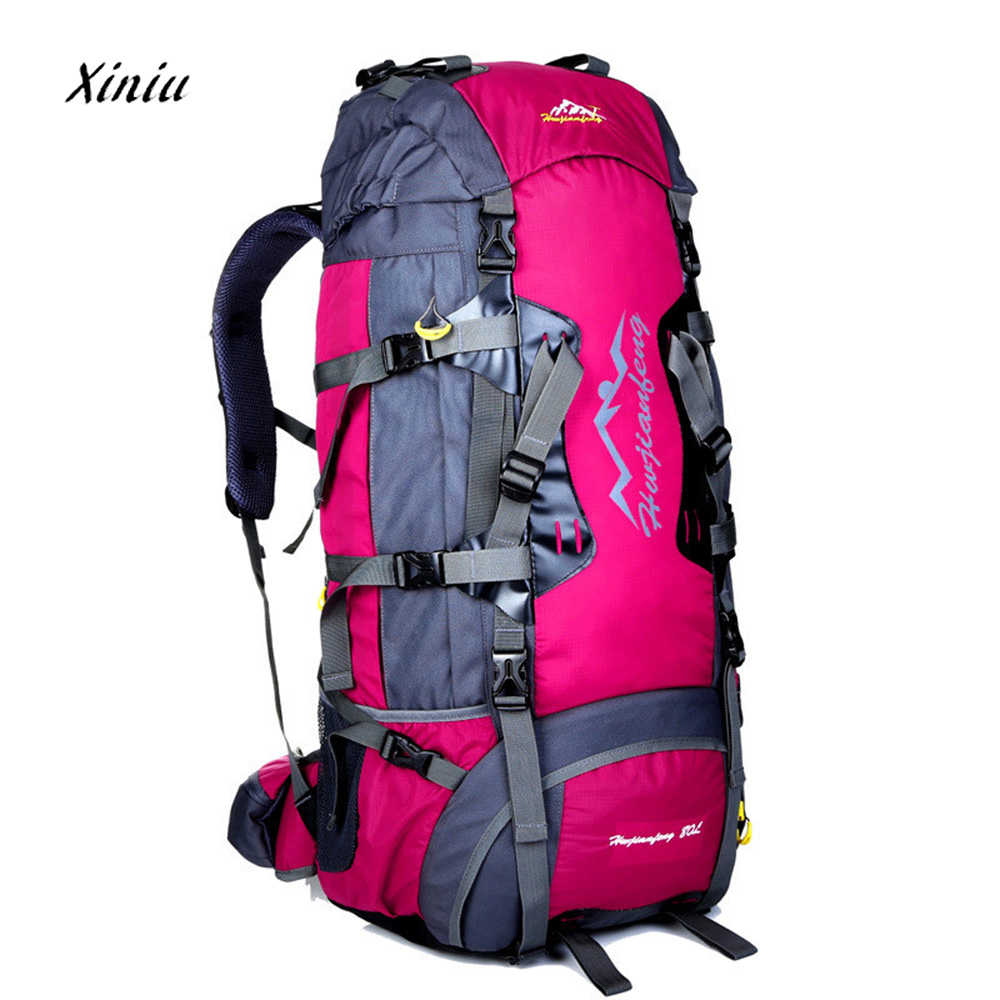 80L High Quality Waterproof Travel Bag Men Women Backpack Big Luggage Rucksack Bag New Fashion Casual Backpacks bolsa