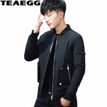 TEAEGG Black Casual Loose Men's Winter Jacket Blouson Hiver Homme Cotton Winter Jackets Mens Parka Warm Male Clothing AL341