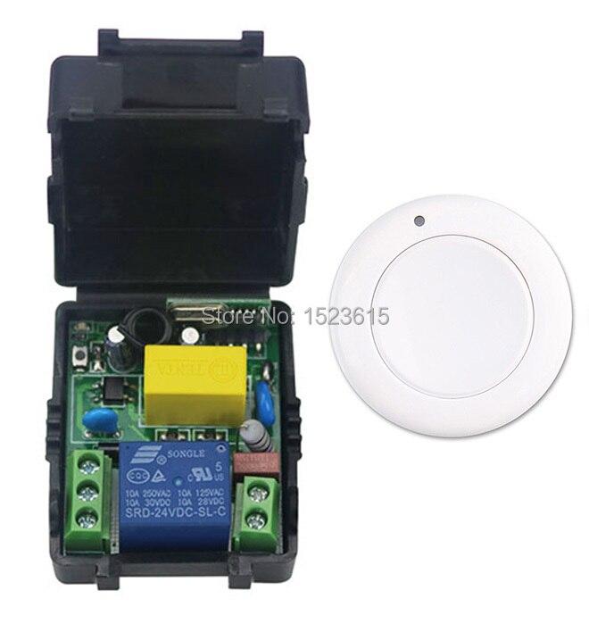 все цены на New multi-function  output mode AC 220 V 1CH Wireless Remote Control Switch System Receiver & White wall Panel Sticky Remote онлайн