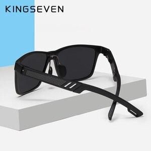 Image 5 - Kingseven真新しい偏光サングラス男性ユニセックスメタルフレーム運転メガネ女性レトロなサングラスgafas