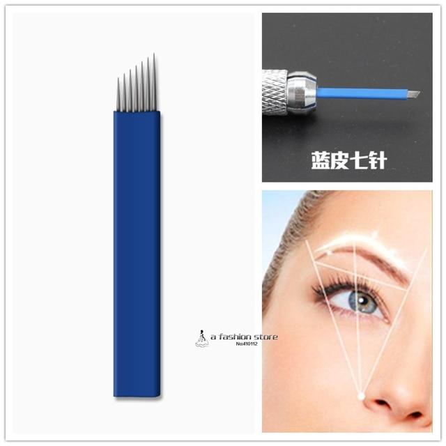 Aliexpress Buy 7 Pins Tattoo Eyebrow Needle Manual Needle