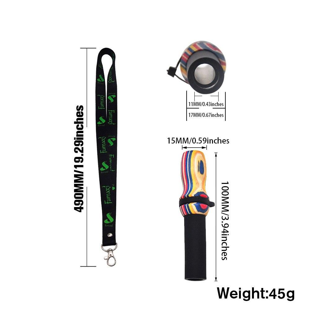 HORNET Hang Rope Strap Hookah Mouthpieces Shisha Rainbow Wood Silicone Mouth Tip Hookah Sheesha Chicha Narguile Hose Accessories