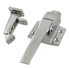 THGS SilverToneStainless Steel Spring Loaded Walk In Freezer Cooler Door Handle Latch
