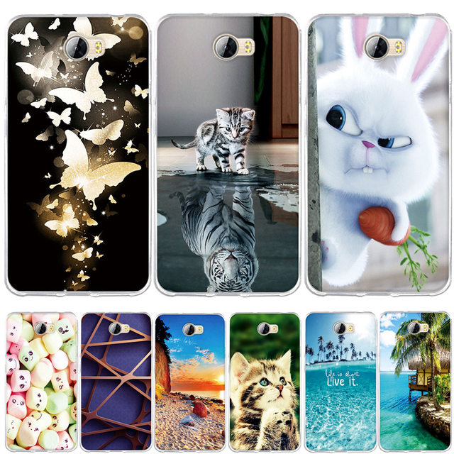 """TPU Soft Phone Cases for Huawei Y5 II Y5ii Y52 Cover for huawei y5 ii y5II 5.0"""" Case Silicon for Huawei Honor 5A LYO-L21 CUN-U29"""