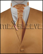 free shipping  light orange classical vests sets(vest+ascot tie+cufflinks+handkerchief)