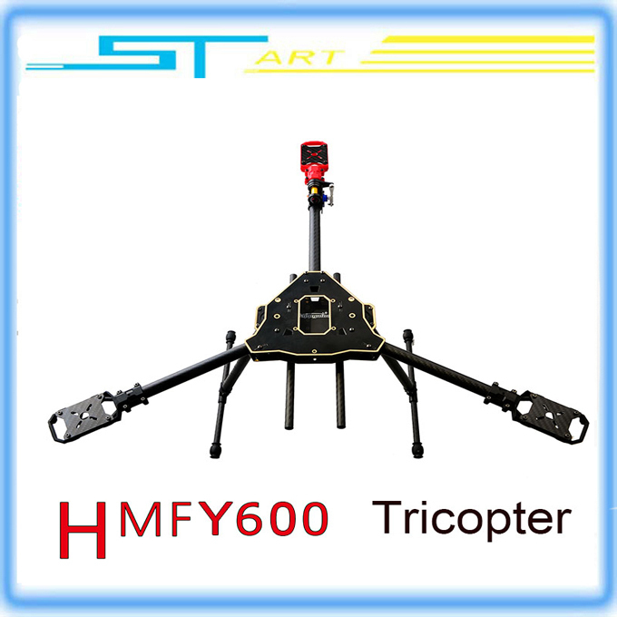 HMF Y600 RC Quadcopter Copter Frame Kit High Drone 3 Axis Landing Gear Gimbal Hanging Rod FPV Y3 f10811 hmf y600 tricopter 3 axle copter frame kit w high landing gear