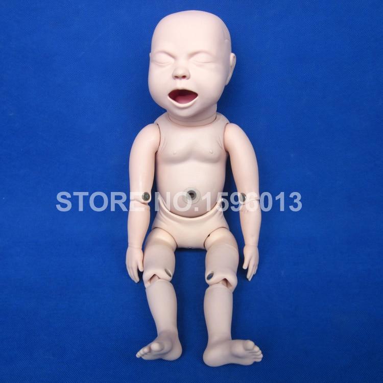 Souple Nouveau-Né Bébé Poupée, Terme Fœtus avec Pliable Membres Bébé Mannequin D'allaitement