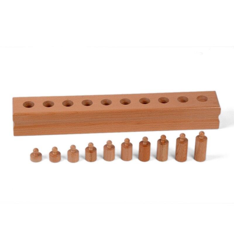 Bébé Jouet Montessori Monocylindre 4 Sensorielle Formation Préscolaire Éducation de la Petite Enfance Brinquedos Juguetes - 2