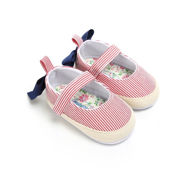 2019 Newborn Baby Girl Shoes Infant Toddler Baby Crib Shoes Princess Lace Mary Jane Big Bow Soft Soled First WalkerA 4