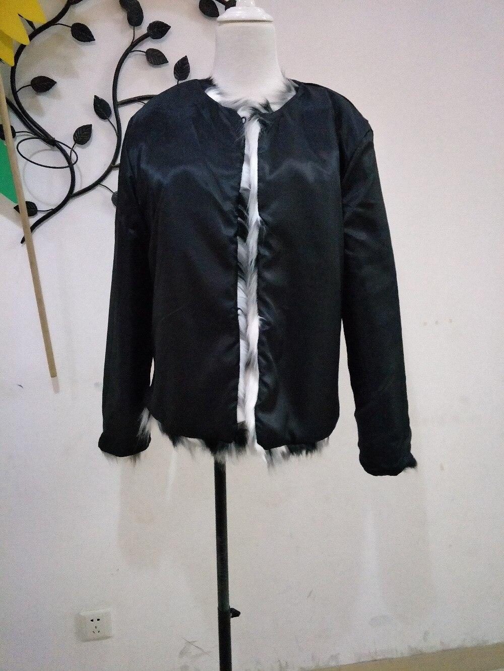 Women Mixed Color Man-Made Fur Jacket Casual Plus Size Faux Fur Coats Female Short Section Fur Outwear Casaco De Pele Falso Ck43 6