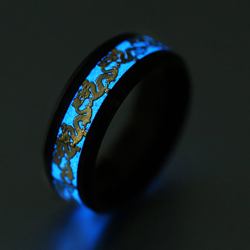Luminous Silver Ring Dark...