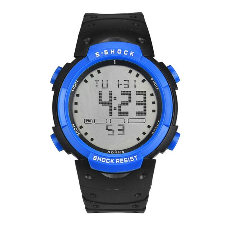 Big Screen Luminous Waterproof mens Watches LED Camping Outdoor Climbing Sports Electronic Men Watch Hombre Relogio Digital E35