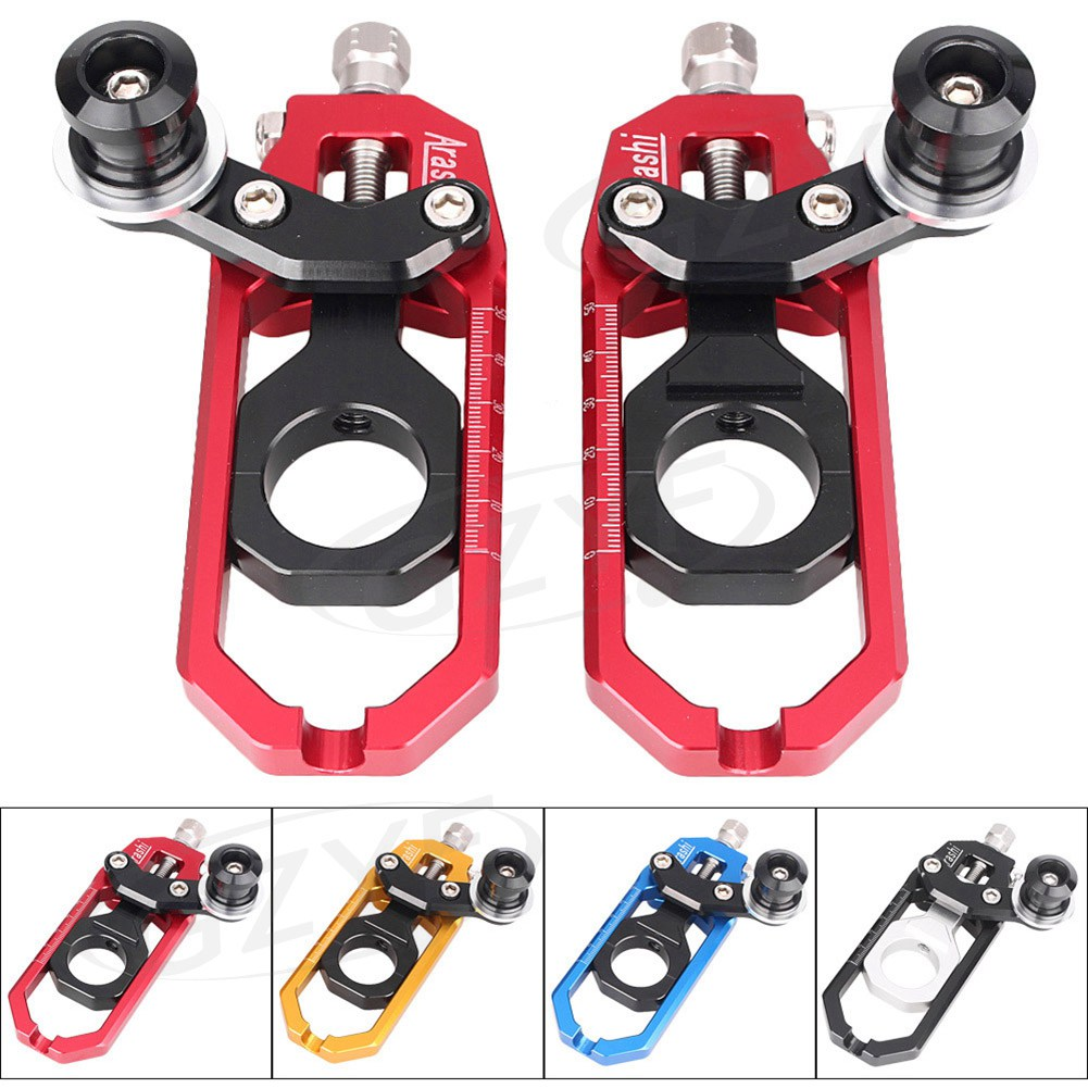 CNC Aluminum Chain Adjusters with Spool Tensioners Catena For Yamaha YZF R1 2004-2005 motorcycle cnc aluminum chain adjusters tensioners catena for yamaha yzf r1 2007 2008 red blue gold gray chain adjusters