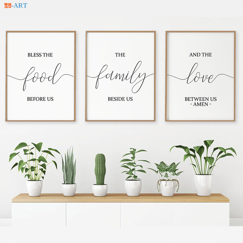 Bible Verse Canvas Painting Signs Print Quotes Poster