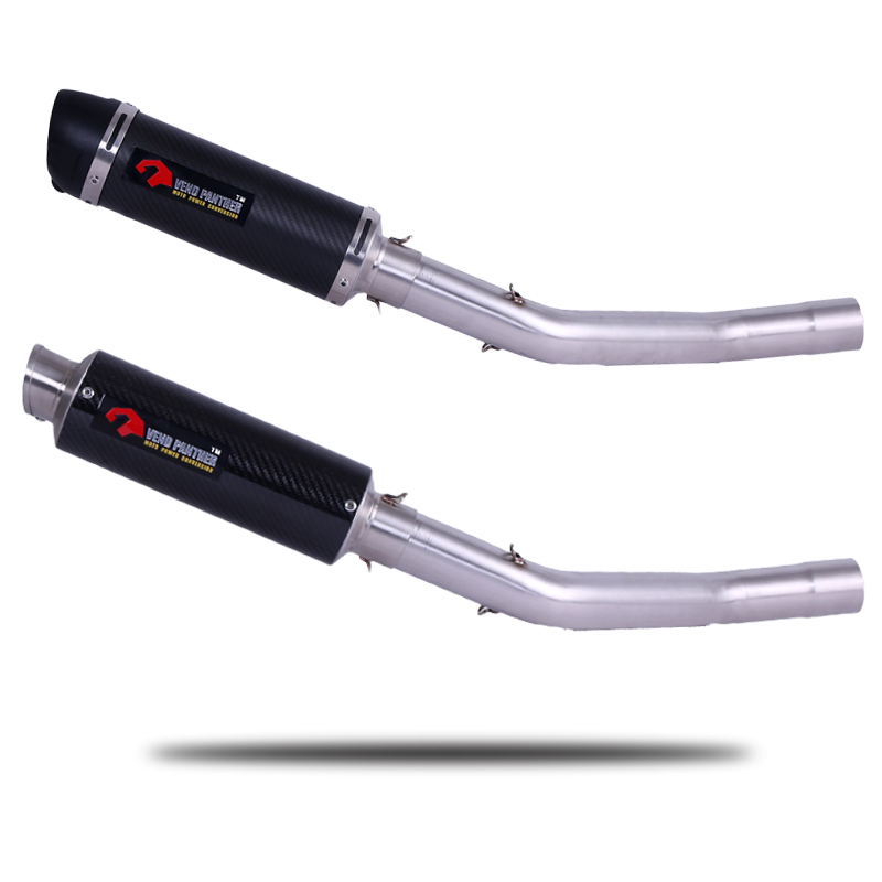 Exhaust Escape Full System Slip-On For KAWASAKI ZX10R ZX-10R with DB-KILLER Motorcycle Muffler 2008 to 2014