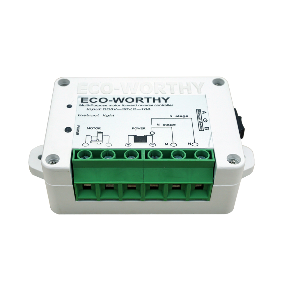 Eco Worthy Wireless Motor Controller Remote Positive For The Power Circuit Of A Forward Reverse Electric Inversion Control Kit Linear Actuator