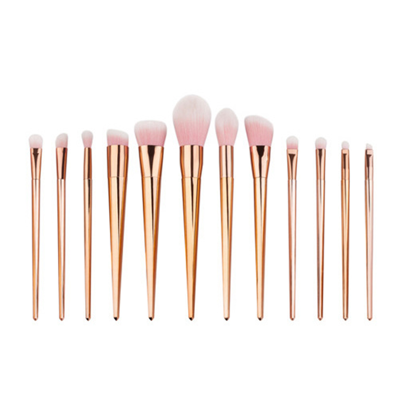 New diamond 12 pcs Makeup Brushes Professional Synthetic Cosmetic Makeup Brush Foundation Eyeshadow Eyeliner Brushing Brush Kits