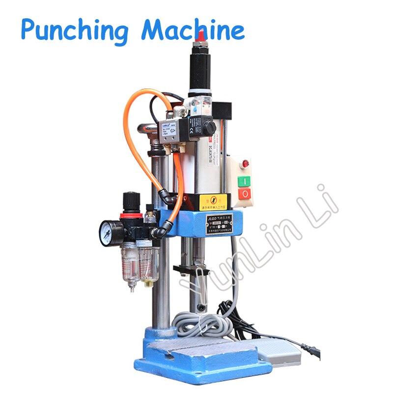 Pneumatische Stanzen Maschine Handpresse Maschine Einstellbaren Kraft 200KG Pneumatische Puncher 110V/220V Einzelnen Spalte