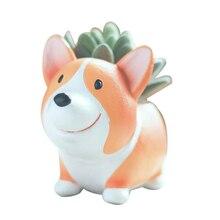 Tenozek собака корги серии сочный кактус цветочные горшки декоративные Резиновые Садовые принадлежности кашпо