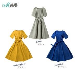 Image 5 - INMAN A line Half Sleeve Woman Mid Calf Dress Summer Elegant Ladies Dress Woman Girl Causal Long Dress