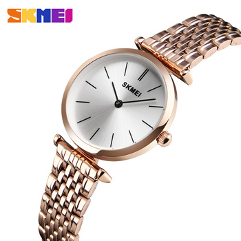 цена Skmei Luxury Brand Ladies Quartz Watch Female Wristwatch Fashion Women's Watches Watch Luxury Women Clock Relogio Feminino 1458 онлайн в 2017 году