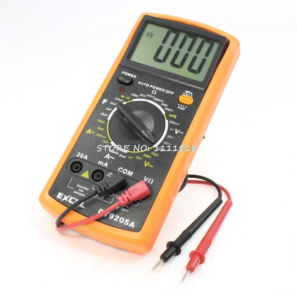 Автоматическое отключение переменного тока постоянного тока Вольт Ампер Ом Емкость мультитестер мультиметр