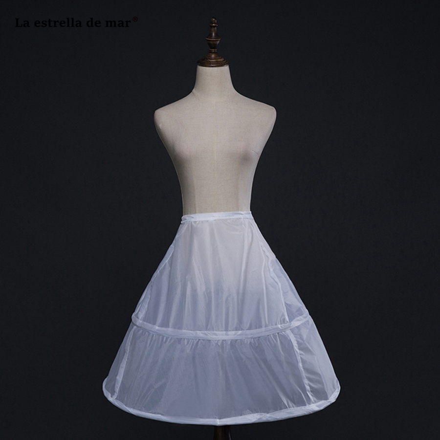 La Estrella De Mar Jupon New Short Fluffy White 2Hoops Petticoat Woman Cheap Jupon Mariage Stock Underskirt