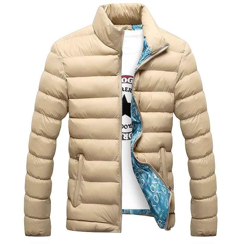 2019 nuevas chaquetas de invierno Parka hombre otoño invierno cálido prendas de vestir marca delgada para hombre Abrigos Casual cortavientos chaquetas acolchadas hombre M-6XL