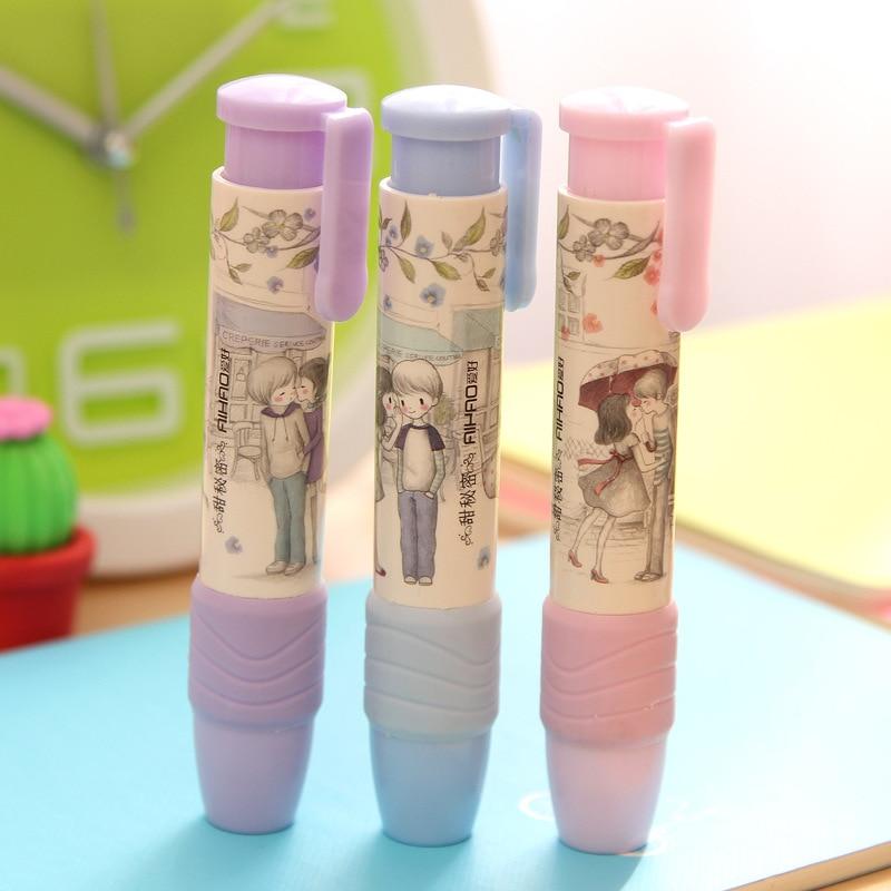 Office Erasers New Korean Stationery Creative Sweet Sweet Cartoon Student Press Press Rubber Eraser School Supplies
