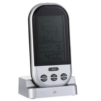 New LCD Wireless Remote Kitchen Thermometer For BBQ Grill Meat Oven Food Cooking Thermometer Gauges