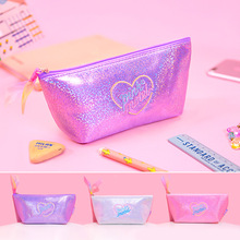 Mini Gypsophila School Pencil Case Large Girls Penal Pencilcase Kawaii Laser Pen Bag for Kids Storage Box Stationery