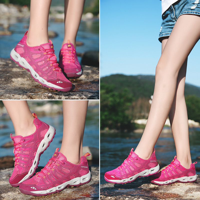 Gris Pour Flate Respirant Maille De Printemps Beauté Chaussures Dames pourpre Mode L'eau D'été rouge Air Femmes Sneaker Femelle xYHHzZqF