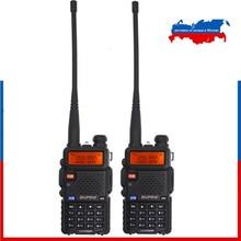 2pcs Baofeng New UV-5R Tri-band 136-174MHz 220-260MHz 400-520MHz Amateur radio Dual display Upgraded UV 5R Two way radio BF-R3