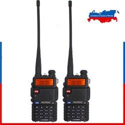 2 шт. Baofeng новый UV-5R трехдиапазонный 136-174 МГц 220-260 МГц 400-520 МГц любительский радио двойной дисплей Модернизированный UV 5R двухстороннее радио ...