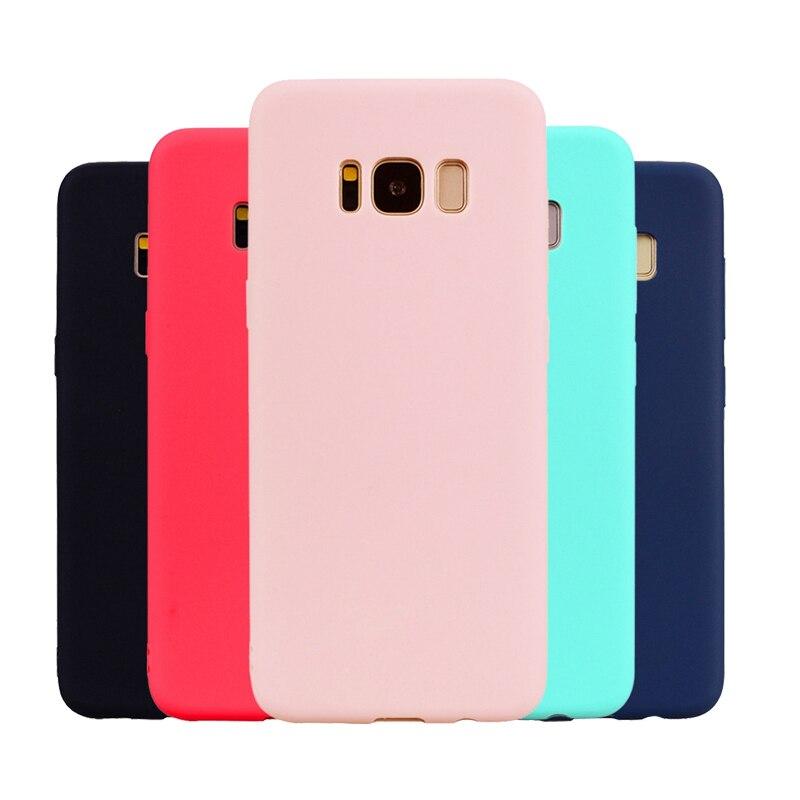 Ультратонкий Мягкий силиконовый чехол из ТПУ для Samsung Galaxy S6 S7 Edge S8 S9 Plus J3 J5 J7 2016 A3 A5 A7 2017 Чехлы ярких цветов