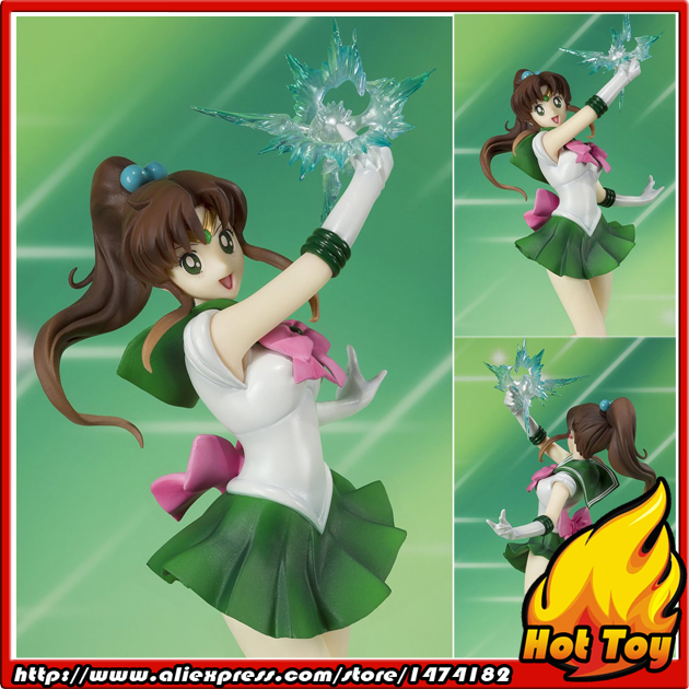 Original Bandai Tamashii Nations Figuarts Zero Sailor Jupitor Sailor Moon Action Figure original bandai shokugan sailor moon butterfly ribbon charm key chain sailor moon
