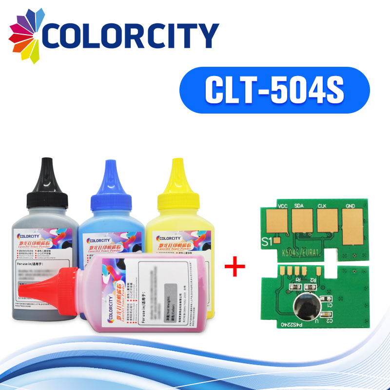 Compatible clt-504s refill toner powder + chip for Samsung clt-k504s Xpress C1810 C1810w CLP-415nw C1860fw SL-C1810w SL-C1860fw