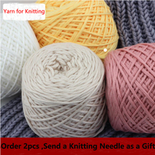 Soft Silk milk Cashmere Wool Cotton Yarns for Kids Baby Eco-friendly Dyed thick yarn for knitting threads hand knit scarf collar