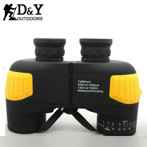 Hot 7X50 font b rangefinder b font military binocular Professional marine floating binoculars telescope DYB012