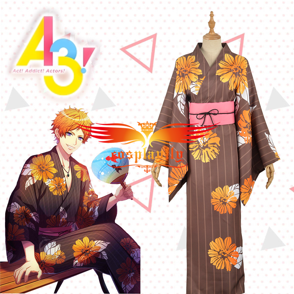 Mobile Game Hand Tour A3! Act!Addict!Actors! Summer Troupe TENMA SUMERAGI  Cosplay Costume Men Fashion Outfit Clothing Adult