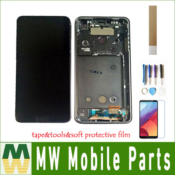 1PC/Lot 5.7For LG G6 G6 Plus H870 vs988t US997 With Frame LCD Display+Touch Screen Digitizer Assembly Black White Blue Color1PC/Lot 5.7For LG G6 G6 Plus H870 vs988t US997 With Frame LCD Display+Touch Screen Digitizer Assembly Black White Blue Color